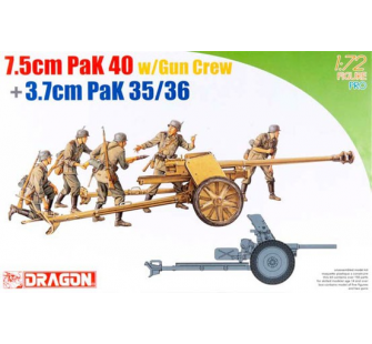 PaK 40 7,5cm et servants Dragon 1/72 - T2M-D7374