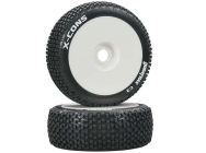 1/8 X-Cons Buggy Tire C3 Mounted White (2) - DTXC3611
