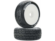 1/8 Bandito Buggy Tire C2 Mounted White (2) - DTXC3638