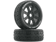 Bandito Buggy Tire C2 Mounted Spoke Black (2) - DTXC3655