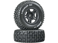 Lockup SC Tire C2 Mounted Black Rear Slash (2) - DTXC3671