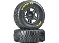 1/10 Lineup SC Tire C2 Mounted Rear Slash (2) - DTXC3679