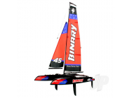 Binary 400mm Mini Catamaran Sailboat 2.4GHz RTR - JOY8807R