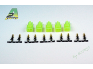 A2PRO  Connecteur OR Mini Tamiya male (100 pcs) - 14541-1