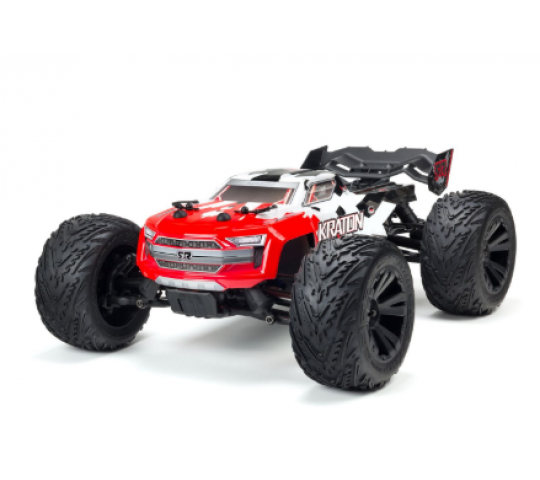 ARRMA 1/10 Kraton 4x4 4S BLX Monster Truck Rush Brushless, Rouge - ARA102690