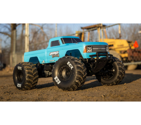 ECX Monster Truck 1/10e AMP CRUSH 2WD RTR Bleu - ECX03048T1