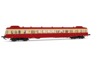 SNCF HO Autorail diesel Classe X 2400 rouge/beige X2474 Depot Limoges periode IV Jouef - HJ2361