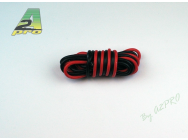 Fil silicone AWG18 - 0,81mm² rouge+noir A2PRO - A2P-17180