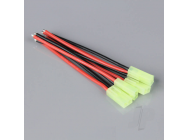 Pigtail Connector Mini Tamiya Female 16AWG 100mm (5pcs) - RDNAC010079