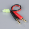 Charge Lead 4mm Bullet to Mini Tamiya Male 16AWG 100mm (ESC End) - RDNAC010080