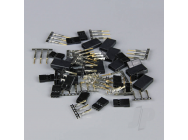 Hitec / JR Connectors Pairs with Gold Pins (10pcs) - RDNAC010084