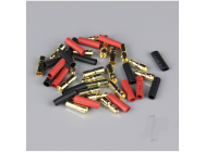3.5mm Gold Connector Pairs including Heat Shrink (10pcs) - RDNAC010089