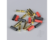 4.0mm Gold Connector Pairs including Heat Shrink (5pcs) - RDNAC010090