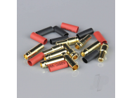 5.0mm Gold Connector Pairs including Heat Shrink (5pcs) - RDNAC010092