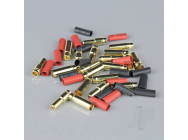 5.0mm Gold Connector Pairs including Heat Shrink (10pcs) - RDNAC010093