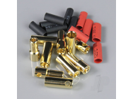 5.5mm Gold Connector Pairs including Heat Shrink (5pcs) - RDNAC010094