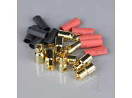 6.0mm Gold Connector Pairs including Heat Shrink (5pcs) - RDNAC010096