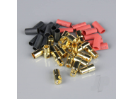 6.0mm Gold Connector Pairs including Heat Shrink (10pcs) - RDNAC010097