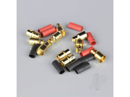 8.0mm Gold Connector Pairs including Heat Shrink (5pcs) - RDNAC010098