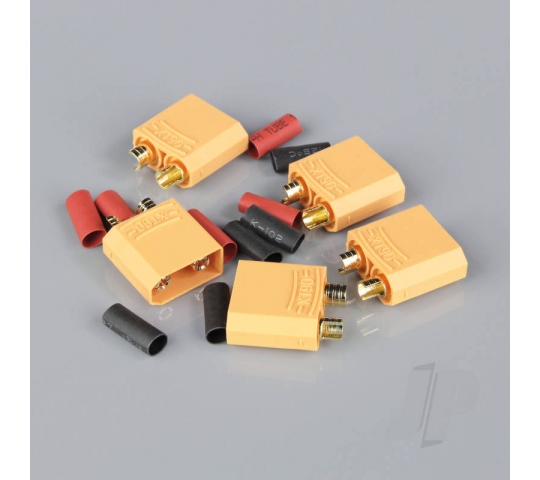 XT90 Male including Heat Shrink (ESC End) (5pcs) - RDNAC010037