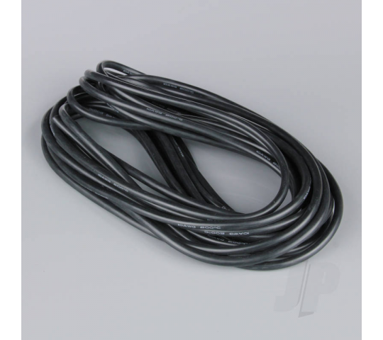 Silicone Wire 10AWG 25ft / 7.5m Black (on a roll) - RDNAC010132