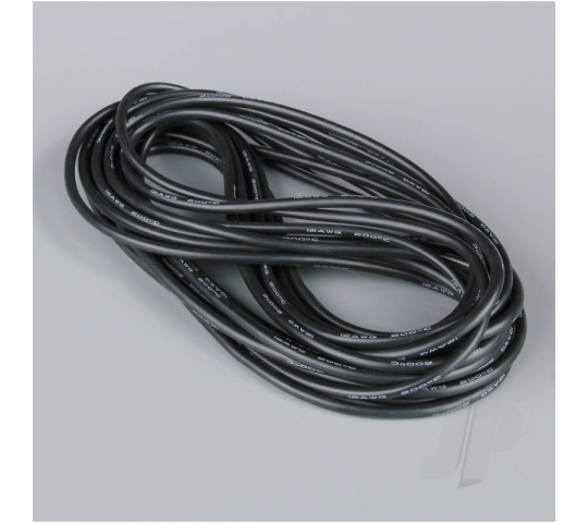 Silicone Wire 12AWG 680 Strand 25ft / 7.5m Black (on a roll) - RDNAC010134