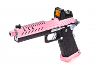 Replique GBB gaz Hi-Capa 5.1 Noir / Rose 1,0J + point rouge BDS - PG3281R