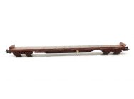 Wagon plat 4 axes RS 8-12 marron period IV SNCF Jouef - HJ6168