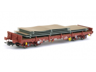 Wagon plat 4 axes Remms avec chargement period V SNCF Jouef - HJ6176
