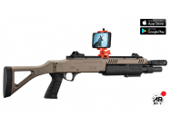 RŽplique airsoft connectŽe FABARM STF/12-11 COMPACT ressort 3 shots 0,8j SHOOTER AR BLACK - LR3020