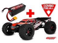 Combo Kronos XP 6S Monster Truck 1/8 LWB Brushless RTR Corally   Lipo 4S 5400mAh - C-00170-C