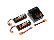 Smart PowerStage Bundle 4S 2x Accus 2S 5000Mah 50C + Chargeur S2100 Spektrum - SPMXPS4I