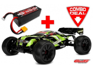 Combo Corally Truggy Shogun XP 6S 1/8e LWB Brushless RTR + Lipo TC Power Racing 50C 4S 5400mAh - C-00175-C