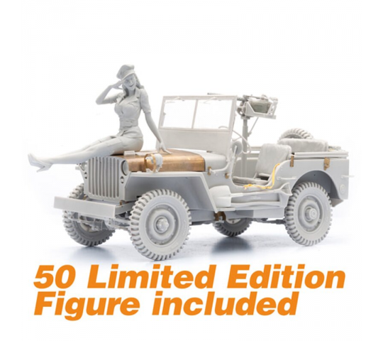 1/16 Kit WW II Willys Jeep - 2222000296