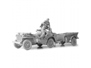Kit WW II Willys Jeep 1/16e with Driver and Gunner et remorque t-3 - 2222000339