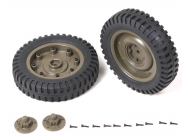 Roues avant completes Jeep Willys 1/6 - ROCC1002
