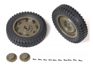 Roues arrieres completes Jeep Willys 1/6 - ROCC1003