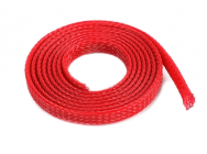 Manchon de protection pour cables - Tresse - 6mm - Rouge - 1m - GF-1476-012-COPY-1