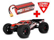 Combo Kronos XP 6S Monster Truck 1/8 LWB Brushless RTR Corally & Lipo 4S 6750mAh incluse - C-00170-C6750