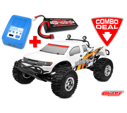 MAMMOTH SP Combo - w/ LiPo Battery TC Power Racing 50C 2S 5400mAh - w/ Charger Pulsetec Mega 50 - w/ Charge Lead - C-00254-C