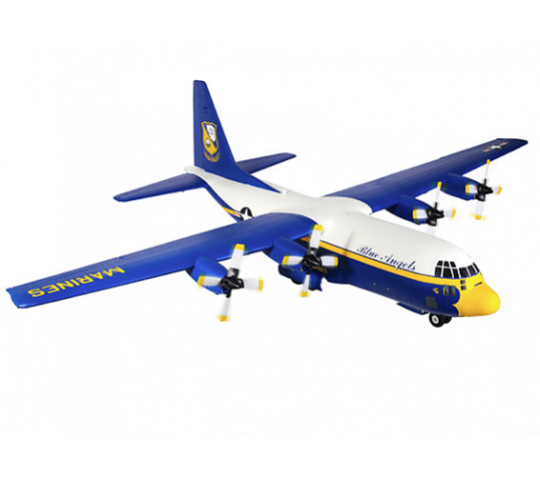 Avios C-130 Hercules Deco Blue Angels Fat Albert Quadri Moteur 1600mm (PNF) - AVIOS-C130-BA