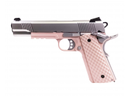 Replique GBB 1911 MEU Raven full metal Gaz Rose - Silver 1J - PG3239