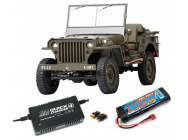 Jeep Willys 1941 MB 1/6 RTR - Accu - Chargeur - BDL-ROC001RS