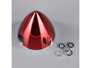 Cone Helice 57mm Chrome Rouge embase Aluminium - JPDAC02065