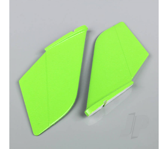Vertical Fin Set Green (Painted with decal) (F-38) - JP - JPDF12010