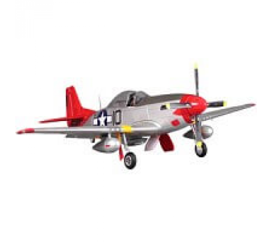 FMS P51 Mustang Artf W/Retract W/O Tx/Rx/Bat - Rouge Tail (V8) - FS0179