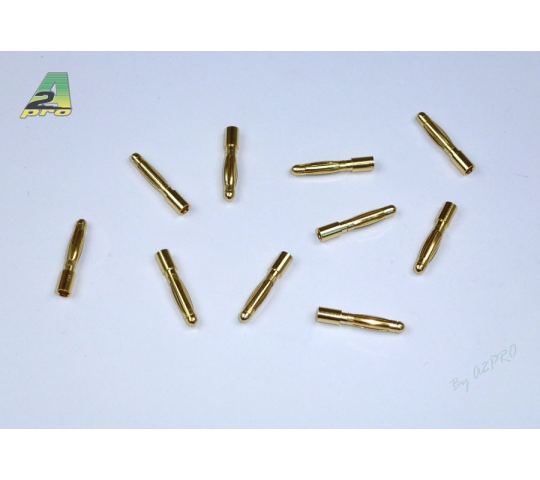 Contact male plaque OR 2mm (10 pieces) A2PRO - A2P-14021