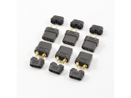 Centro XT-90 Noir Female Connectors (6Pc) - C0356