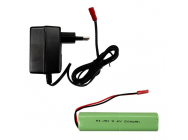 Combo Accu Nimh 9.6V 500mAh + Chargeur 220V - SP-20001