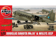 Douglas Dakota MkIII with Willys Jeep - 1:72e - Airfix - A09008